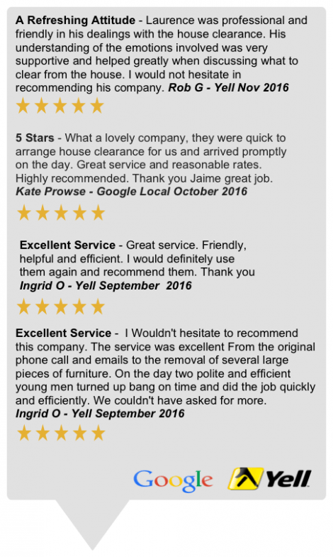 Berkshire House Clearances Testimonials